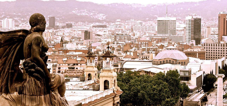 No pensar, no planear, Barcelona, Plaza España